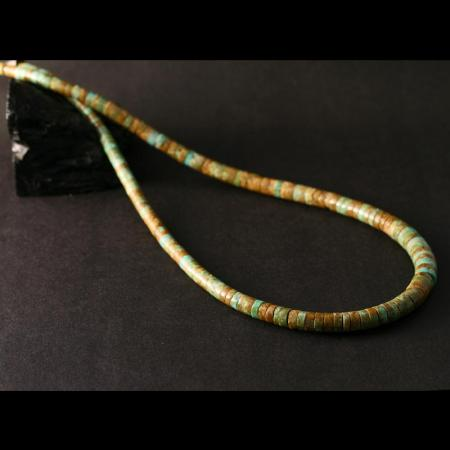 Kingman Turquoise necklace by H & J Chavez
