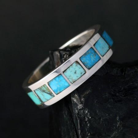 Turquoise Band by Sheldon & Nancy Westika, Zuni
