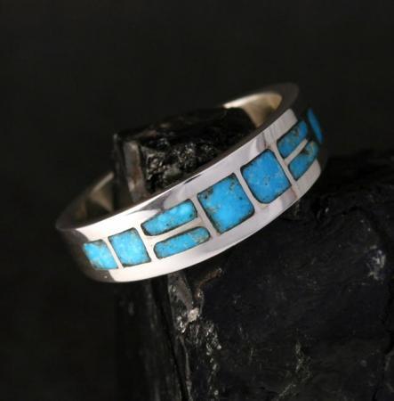 Zuni Turquoise Ring by Sheldon & Nancy Westika