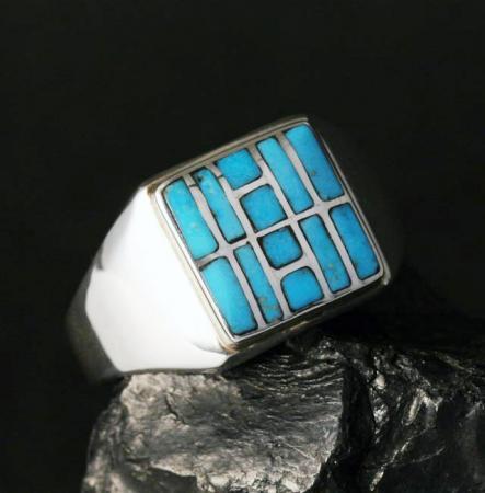Zuni Signet Ring by Sheldon & Nancy Westika
