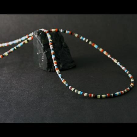 Multi-coloured Heishi Necklace by H & J Chavez, Kewa Pueblo