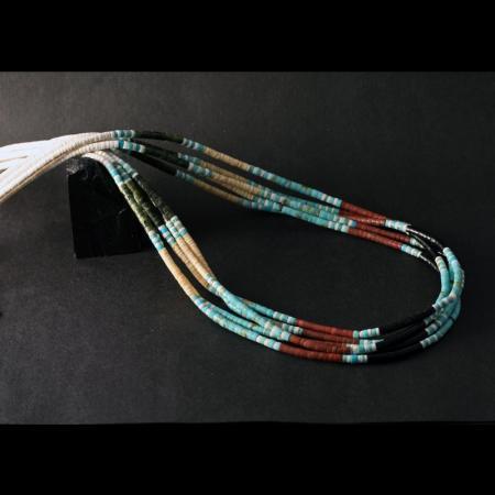 Multi-strand Heishi Necklace by Eddie Chavez