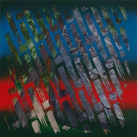 Bent Tree, acrylic on canvas by Karma Henry, Paiute