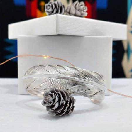 Feather Bracelet by Harvey Chavez, Kewa Pueblo