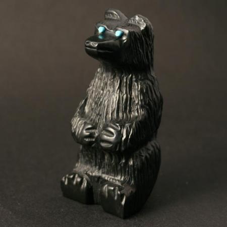 Black Bear Sitting by Mike Tucson, Zuni