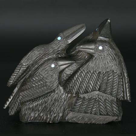 Raven Family by Destry Suitza, Zuni