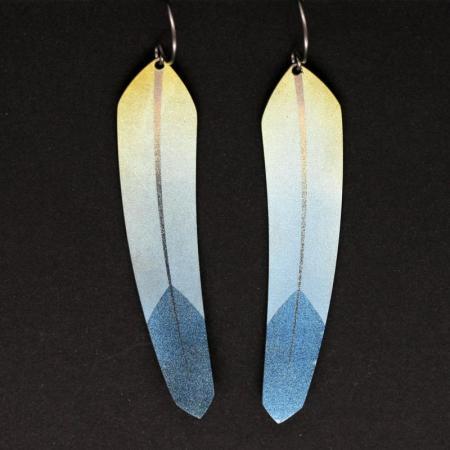 Pat Pruitt feather earrings