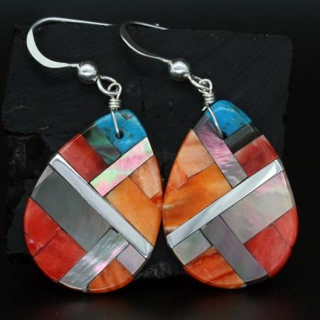 Pueblo Raindrop Earrings by Stephanie MedinaPueblo Raindrop Earrings by Stephanie Medina