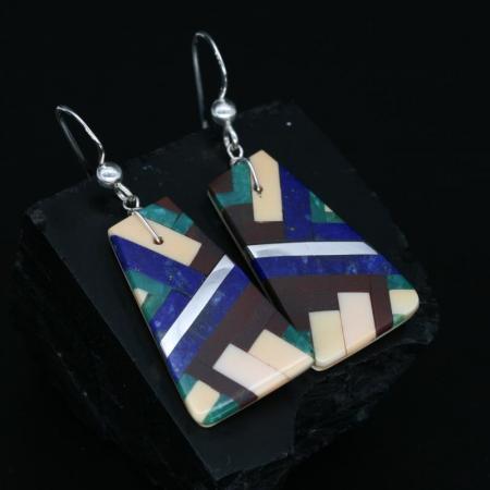 Kewa Pueblo Mosaic Earrings by Stephanie Medina