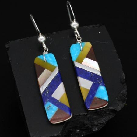 Inlay Earrings by Stephanie & Tanner Medina, Kewa