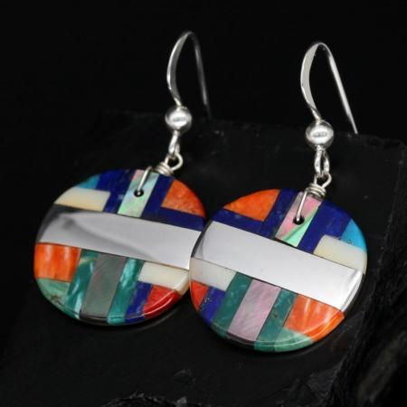 Circular Mosaic Earrings by Stephanie Medina, Kewa
