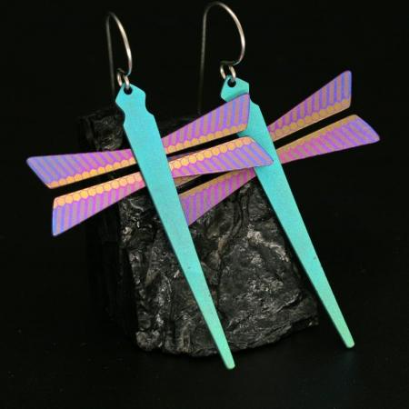 Dragonfly Earrings by Pat Pruitt