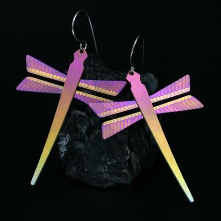 Dragonfly earrings by Pat Pruitt