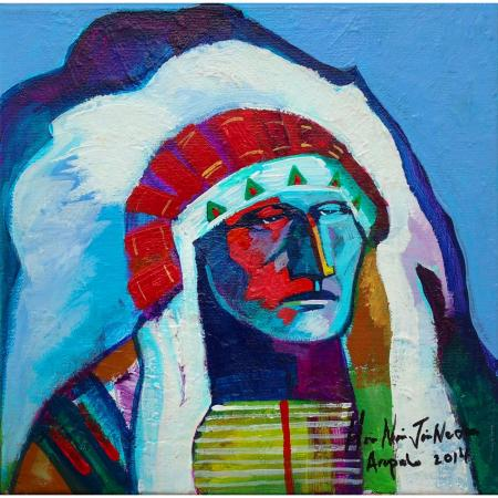 Arapaho, acrylic on canvas by Brent Learned