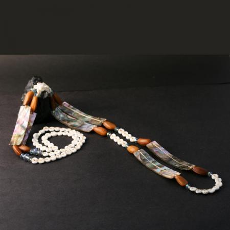 Chumash Abalone Necklace by Leah Mata