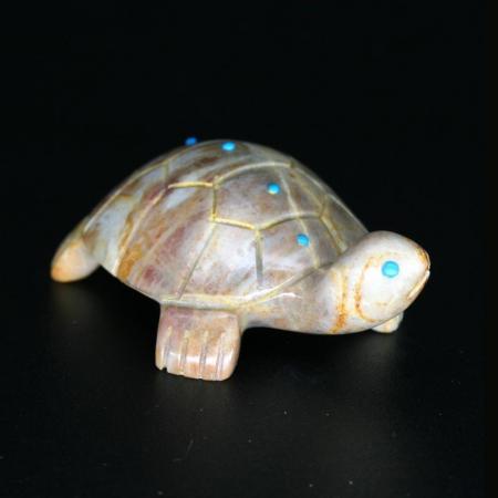 Zuni Turtle Fetish by Vernon Lunasee