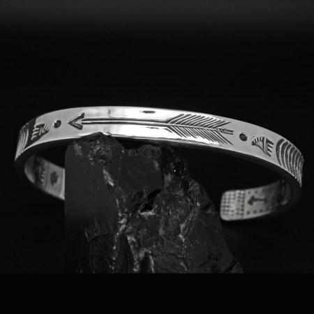 Man's Silver Bracelet by Allen B Paquin