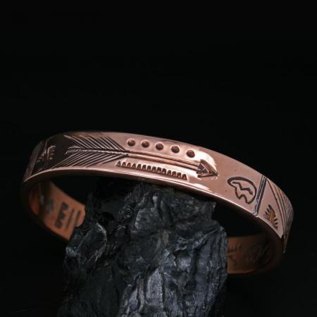 Copper Bracelet by Allen B Paquin, Jemez Pueblo