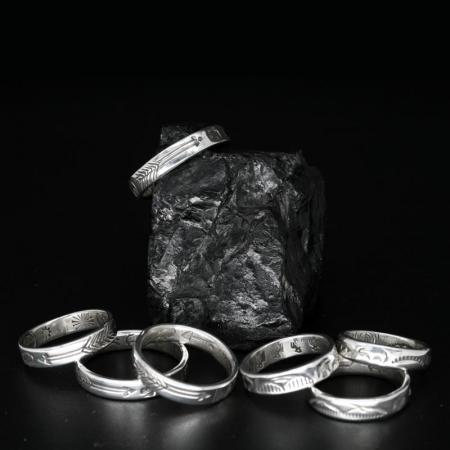 Stamped Sterling Silver Rings by Allen B Paquin