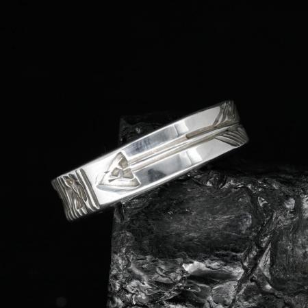 Stamped Silver Band by Allen B Paquin