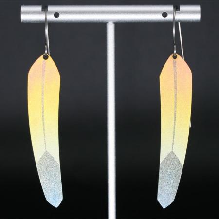 Yellow TechFeather Earrings by Pat Pruitt
