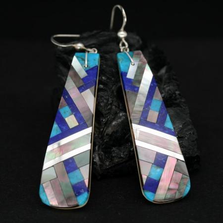 Lapis Lazuli & Turquoise Earrings by Stephanie Medina