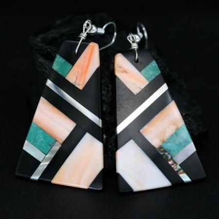 Kewa Pueblo Earrings By Stephanie & Tanner Medina