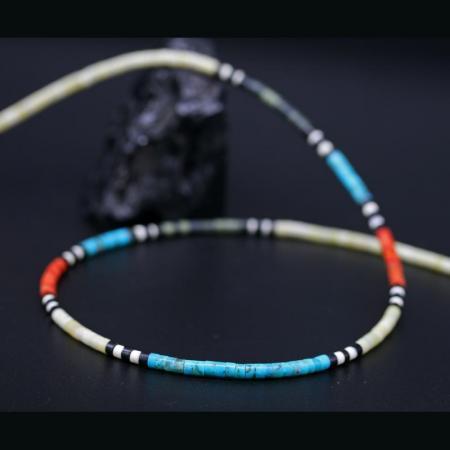 Heishe Bead Necklace by Harvey & Janie Chavez