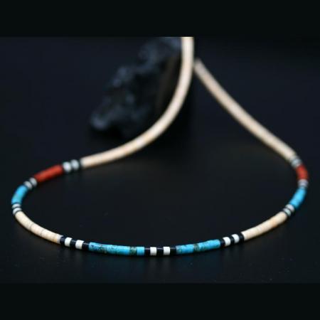 Kewa Pueblo Heishe Bead Necklace by H&J Chavez