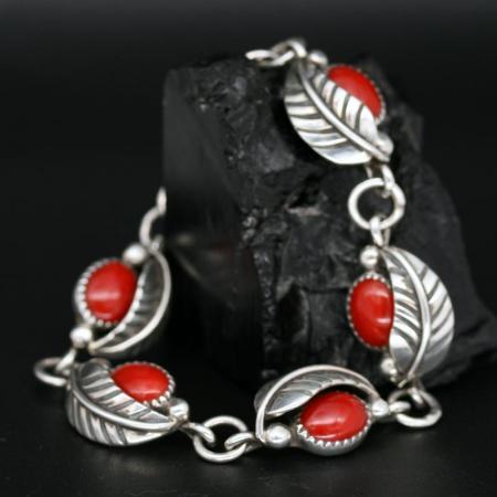 Coral Leaf Bracelet by James Eustace
