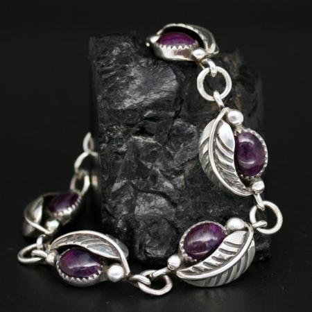 Sugilite Bracelet by James Eustace, Cochiti Pueblo