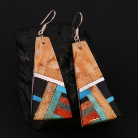 Inlay earrings by Stephanie Medina