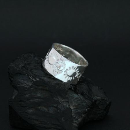 Silver ring by Jennifer Medina