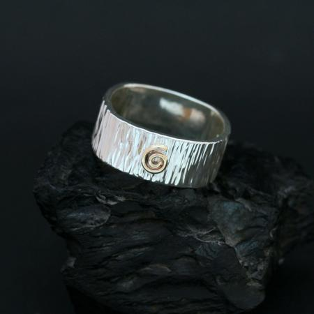 Native American wedding band is finely crafted by Myron Panteah