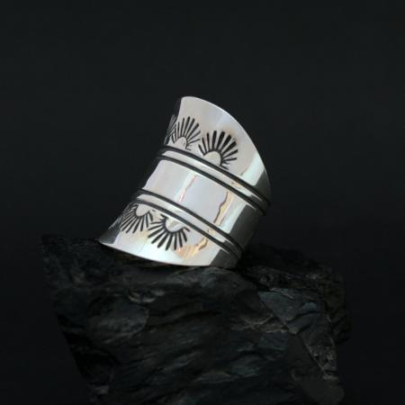 Silver saddle ring by Jennifer Medina