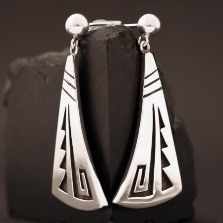 Hopi earrings by Anthony Honahnie